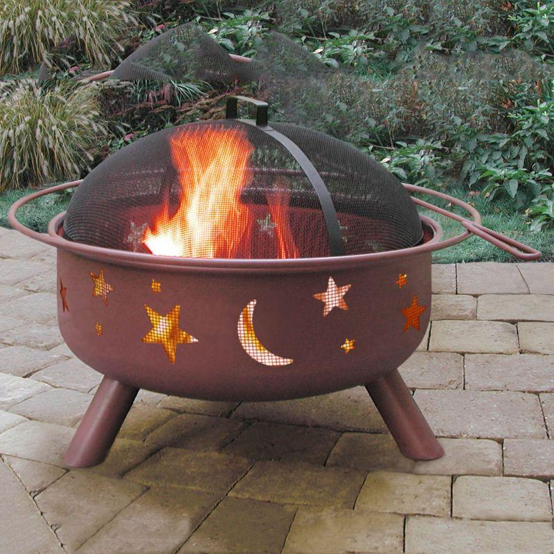 Landmann USA 28338 Big Sky® Stars and Moon Shallow Bowl Fire Pit