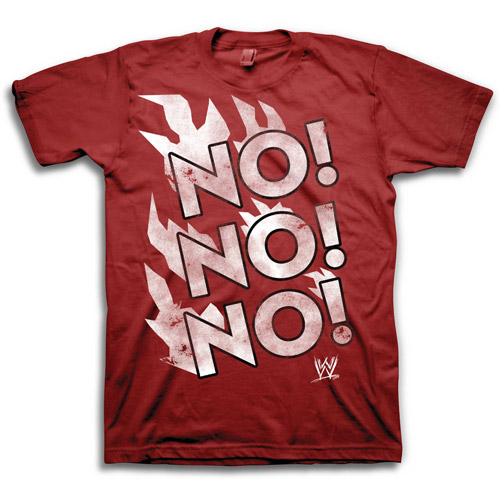 Big Men's WWE No No No Grapic Tee
