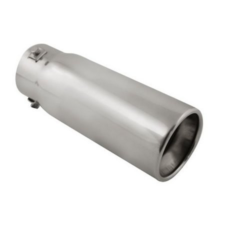 Stainless Exhaust Tips, 3.25 In. Outlet Chrome Steel Chevy Ford Exhaust Tip ()