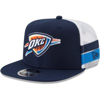 Oklahoma City Thunder New Era Striped Side Lineup 9FIFTY Adjustable Hat - Navy/White - OSFA