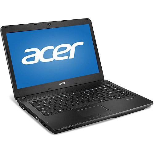 "Acer Black 14"" TravelMate TMP245-M-34014G50Mtkk Laptop PC with Intel Core i3-4010U Processor, 4GB Memory, 500GB Hard Drive and Windows 7 Professional"