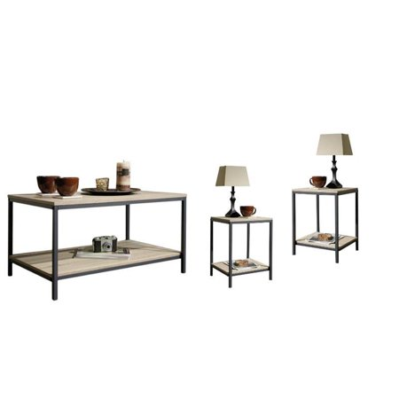 3 Piece Coffee Table Set with (Set of 2) End Table and Coffee Table in Charter Oak 2 Piece Set Coffee Table