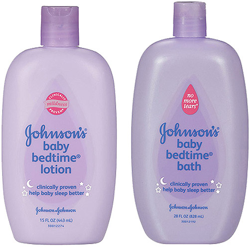 Johnson's Baby Bedtime Lotion, 15oz and Bath Wash, 28oz