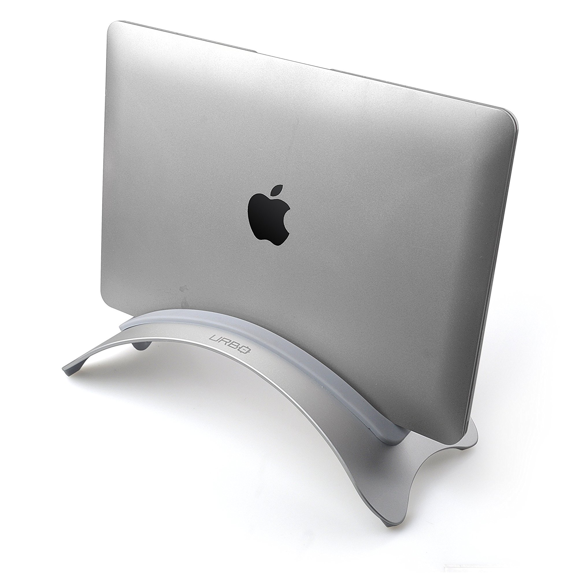 Urbo Vertical Laptop Stand In Closed Clamshell Mode With