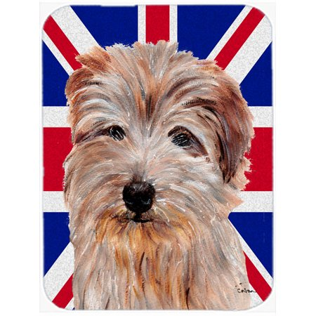 Norfolk Terrier with English Union Jack British Flag Mouse Pad, Hot Pad or Trivet SC9875MP