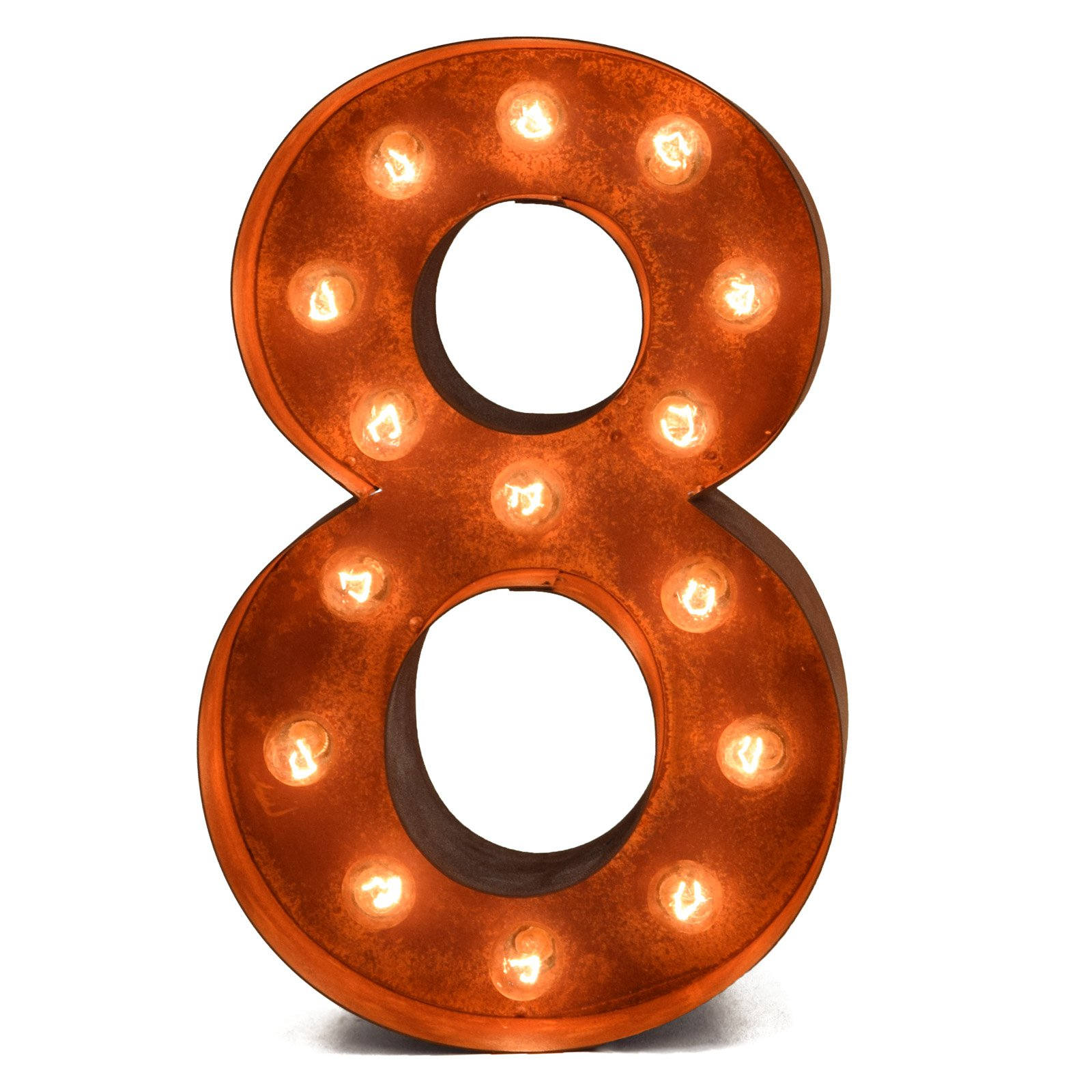 iconics rusted number marquee light walmart com