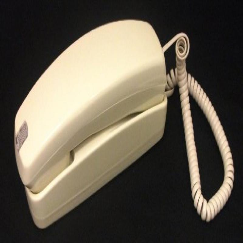Trimline Corded Telephone - Design From 60s With Modern Electronics (Ivory)