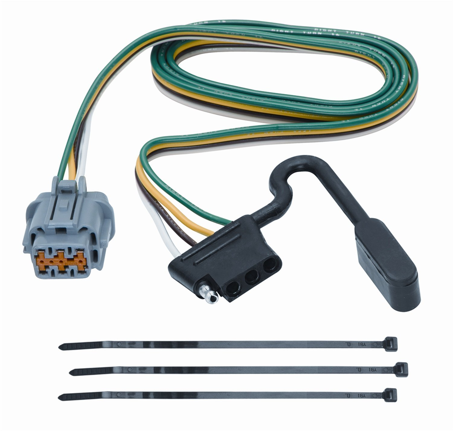 Tekonsha 118263 4-Flat Tow Harness Wiring Package, Xterra perfect wiring  Harness Vehicle Suzuki 20052007 118270 Pack 7Way package For originally  replacing ...