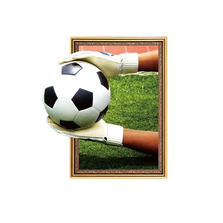 3D Soccer Game Match Pattern Self-adhesion Wall Decal Wall Stickers for Dormitory Decoration](Soccer Themed Decorations)