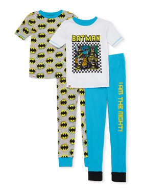 Lego Batman Boys 4-10 4-Piece Pajama Set