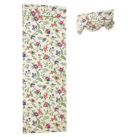 Crewel Drape - Waverly Carolina Crewel French Door Curtain