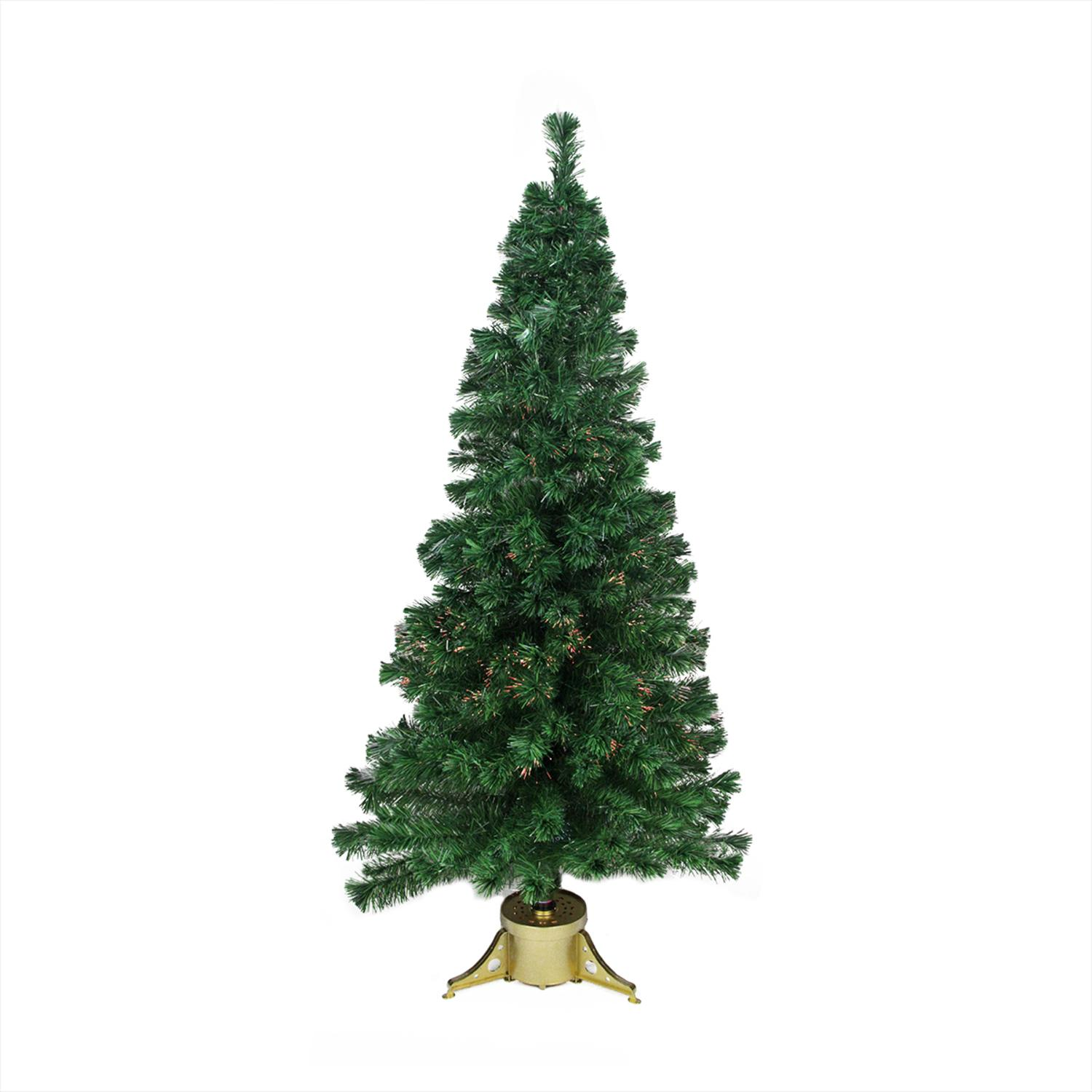 6\' Pre-Lit Color Changing Fiber Optic Artificial Christmas Tree ...