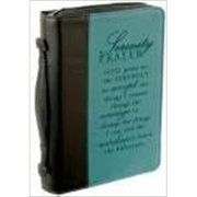Christian Art Gifts 369373 Bi Cover Serenity Large Black Aqua Two Tone Luxleather