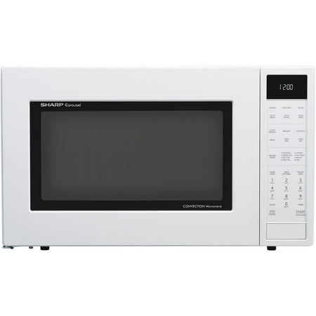 Sharp 1.5 Cu. Ft. 900W Convection Microwave Oven, White
