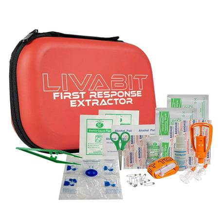 LIVABIT First Response Extractor Venom Poison Bite Extraction Pump Portable Hiking Outdoor First Aid CPR Safety Tool