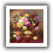 ArtWall Roses from a Victorian Garden' by Albert Williams  Painting Print on Rolled Canvas
