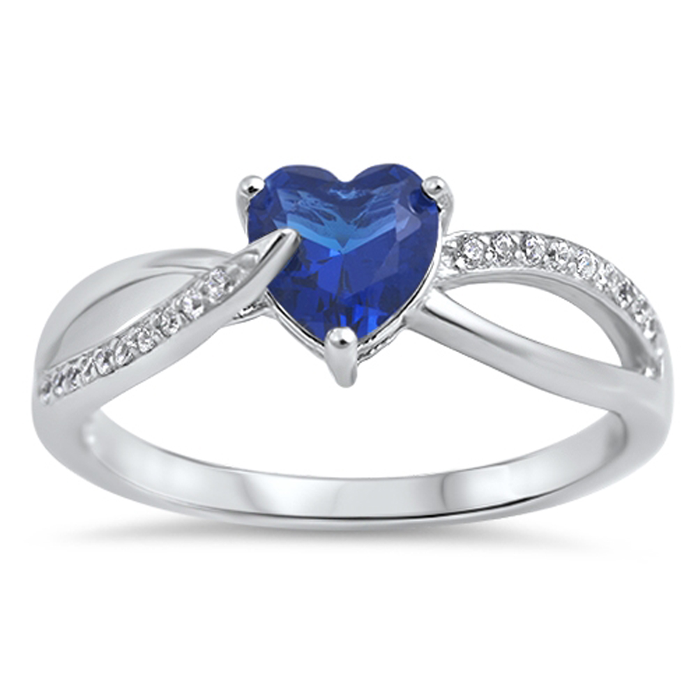 blue simulated sapphire promise ring sizes 5 6 7 8