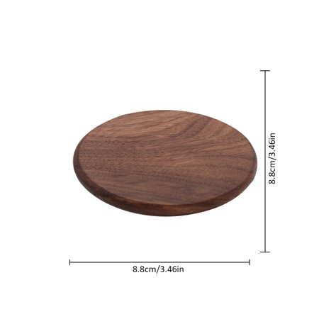 Cup Coaster, Wooden Cup Coaster Walnut Square Coaster Insulation Mat Pot Mat Solid Trays (Walnut Coasters)