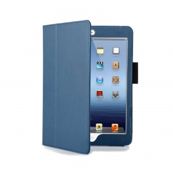 iPad Mini Tri-Fold Folio Case- Dark Blue