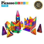 PicassoTiles 180 Piece Set 3D Color Magnetic Building Block Toy Deluxe Construction Kit