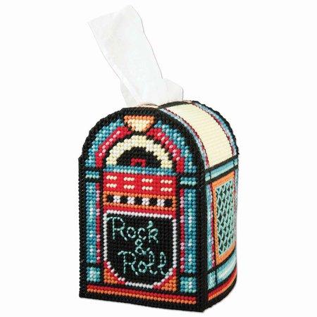 Herrschners® Rock & Roll Tissue Box Plastic Canvas Kit