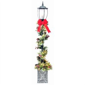 Holiday Lamp Post Decorations (PULEO ASIA LIMITED Christmas Decoration, Lamp Post, 7-Ft.)