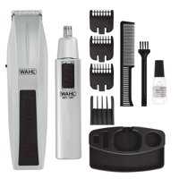 Wahl Hair Mustache and Beard Trimmer Nose Cordless Battery Trimmer Cutter Clipper Combo Set Kit Wireless
