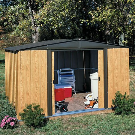Arrow Woodlake Economy Peak Roof Steel Shed, 6x5