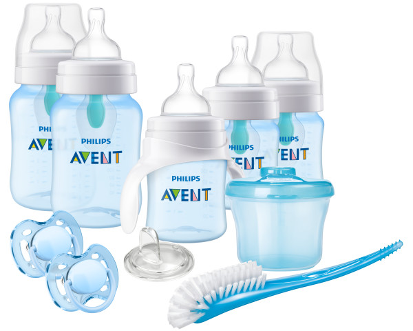 Philips Avent Anti-colic Bottle with Insert Gift Set Beginner Set, SCD394 02 by Philips AVENT