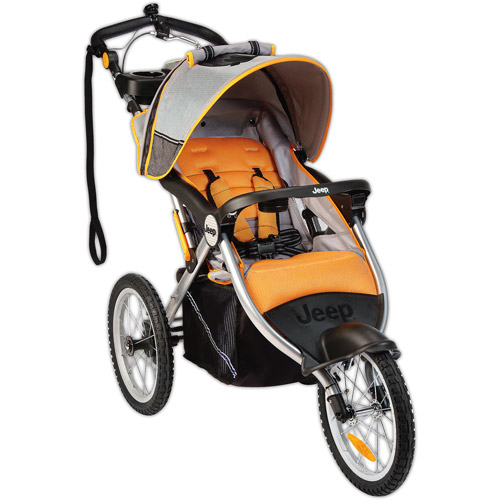 Jeep - Overland Limited Music on the Move Jogging Stroller, Fierce Orange
