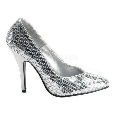Pleaser Shoes Sale (Women's Pleaser Seduce 420SQ Silver Sequins 6)