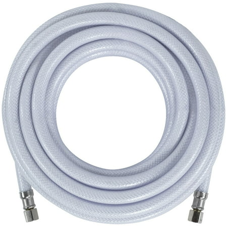 Certified Appliance Accessories IM300P PVC Ice Maker Connector with 1/4  Compression, 25ft For years, licensed plumbers, electricians and appliance installers have relied on Certified Appliance Accessories for their power cords, hoses and connectors. Now you can too. Enjoy the convenience offered by this ice maker connector from Certified Appliance Accessories. Its flexibility and durability ensure a reliable connection for your next home installation project. This hose has been thoroughly tested and is backed by a 5-year limited warranty. Check your appliance's manual for the correct specifications to ensure this is the right connector hose for you. Thank you for choosing Certified Appliance Accessories-Your Appliance Connection Solution.