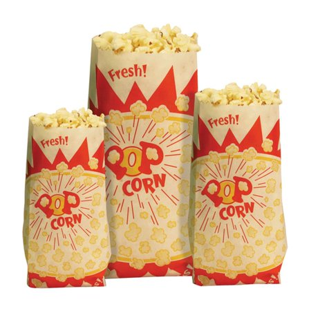 Paragon Paper Popcorn Bags - Red Popcorn