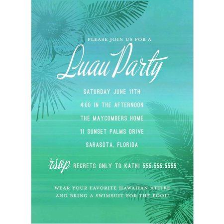 Tropical Oasis Standard Party Invite](Halloween Party Invites Wording)
