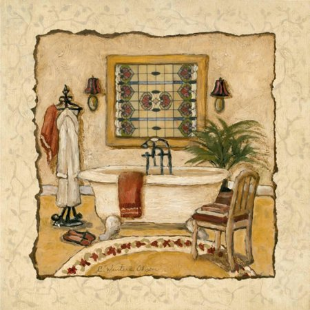 Art Deco Bath II Art Print By Charlene Winter Olson - (Olson Charlene Winter Maison Bath)