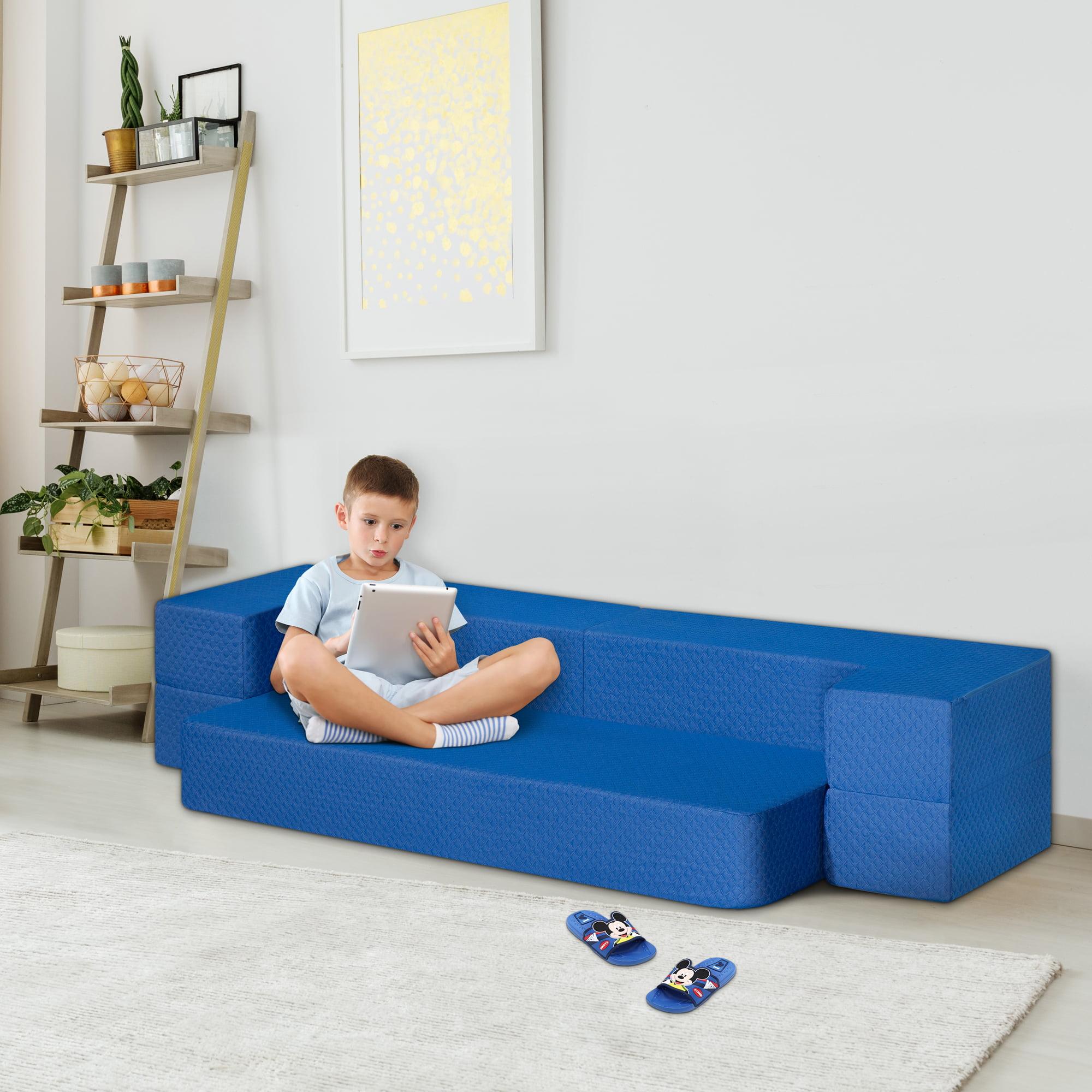 GranRest 8'' 3-in-1 Gel Memory Foam Mattress & Sofa Bed, Blue