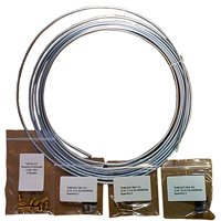 25 ft 3/16 in Brake, Fuel, Transmission  Line Complete Kit - Galvanized Steel Coil (Includes Fittings)