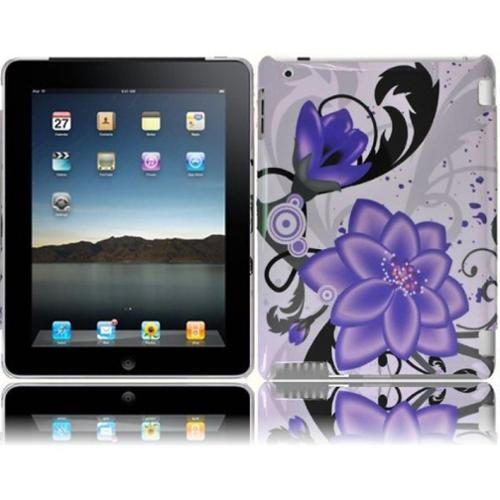Insten For Ipad 3 Ipad HD Design Phone Hard Case Violet Lilly