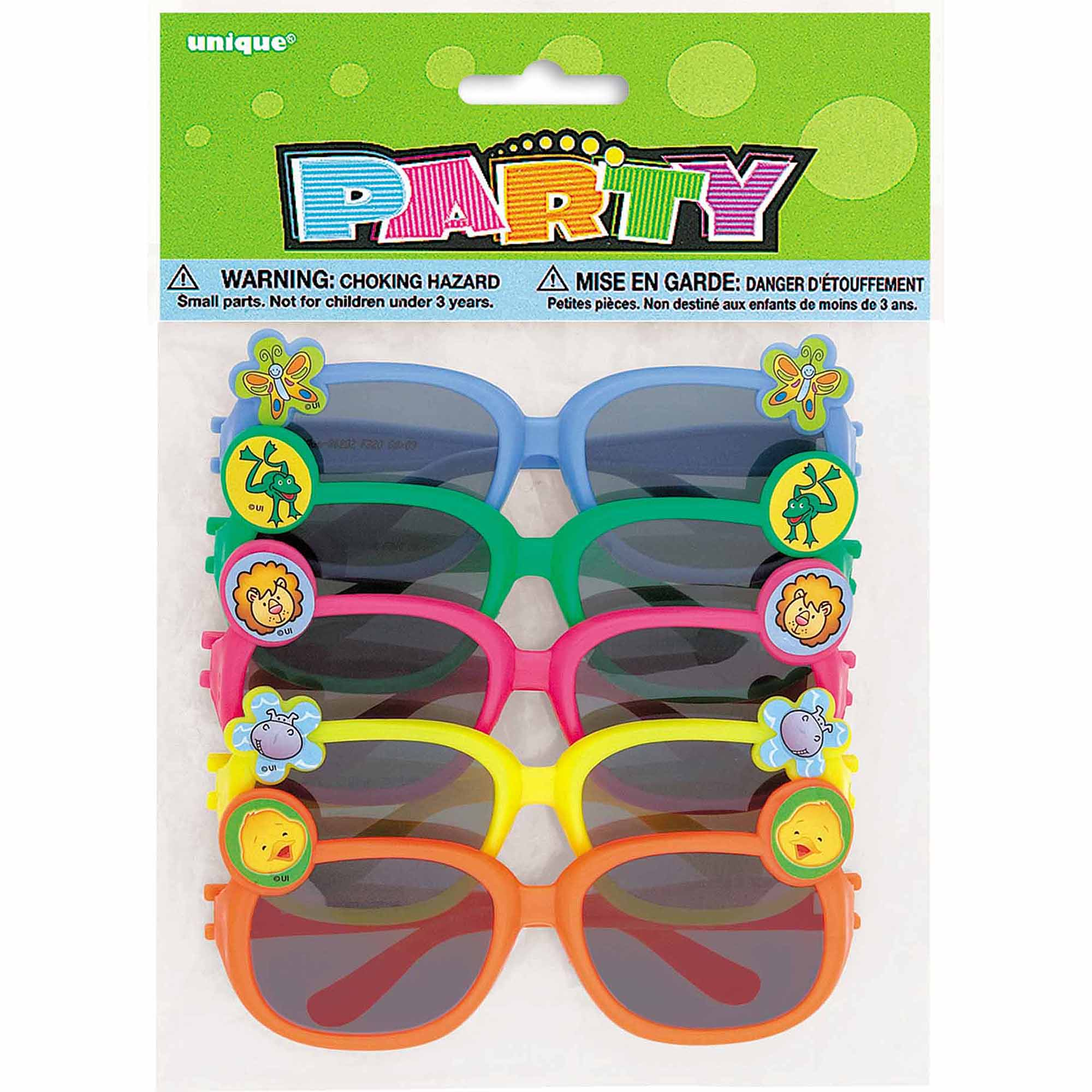 Animal Novelty Glasses Party Favors, 5-Count