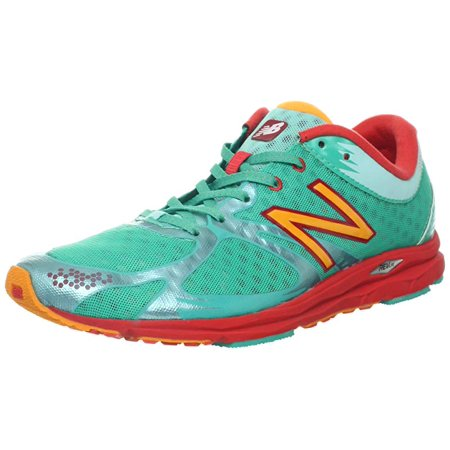 New Balance Women's 1400 Racing Comp Running Shoe, Green/Red, 10.5 B(M) - 1400 Shoes