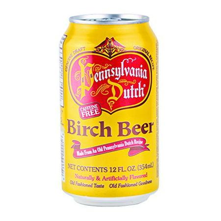 PA Dutch Birch Beer, Popular Amish Beverage, 12 Oz. Cans (One 6-Pack) (Vintage Beer)