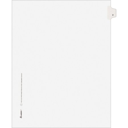 Avery®, AVE82200, Individual Legal Exhibit Dividers - Allstate Style, 25 / (Allstate Style Collated Dividers)