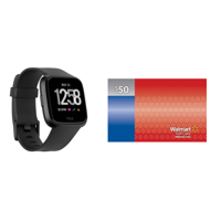 Fitbit Versa Fitness Smartwatch and Activity Tracker + $50 GC