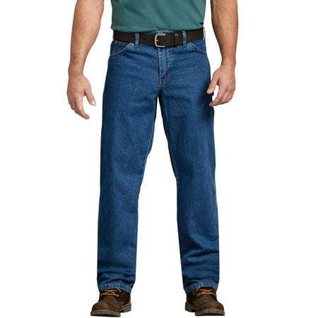 Men's Relaxed Fit Stonewashed Carpenter Denim Jean (Stonewashed Denim Pant Set)
