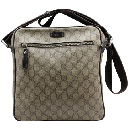 Supreme Monogram 232381 Brown Coated Canvas Cross Body Bag - Gucci Coated Canvas