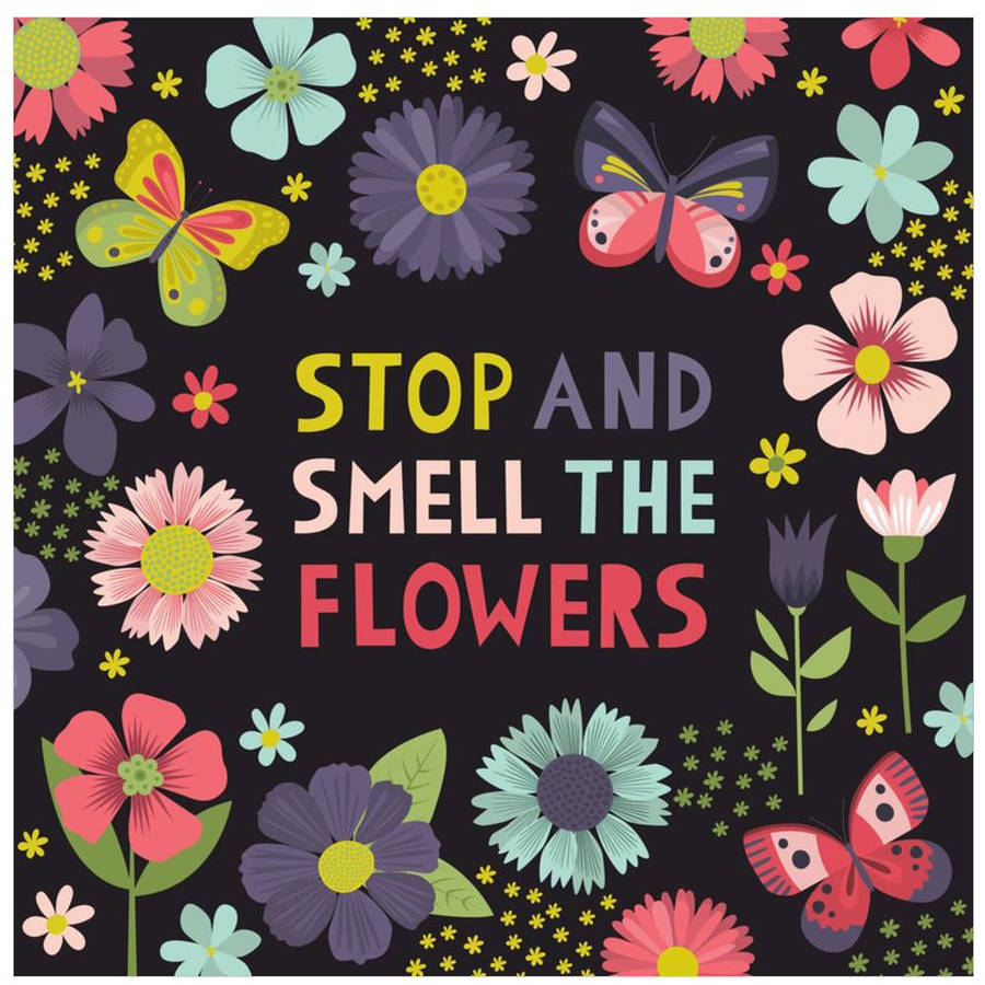 Stop And Smell The Flowers by Eazl Canvas Poster