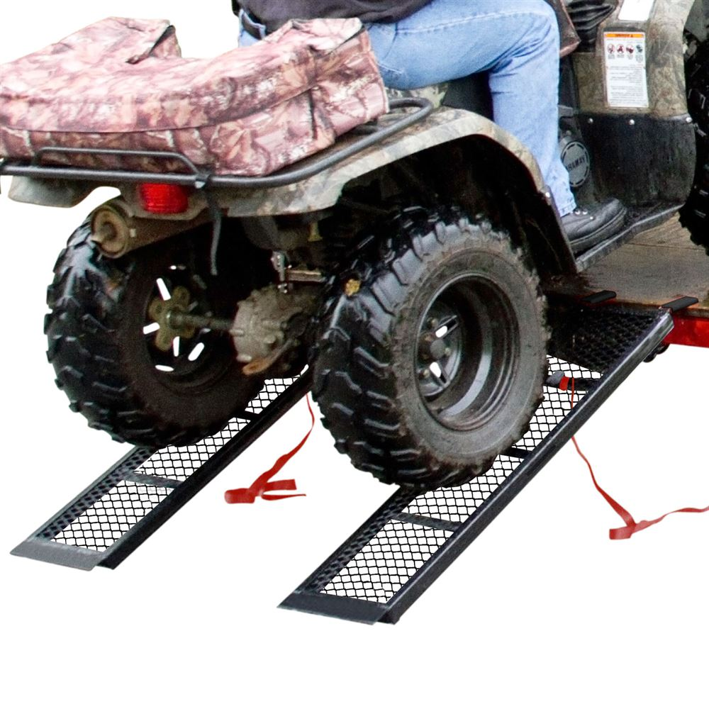 "48.5"" Black Steel ATV Trailer Ramps (Pair)"