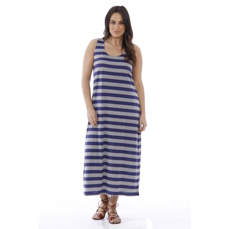 Plus Size Summer Dresses Maxi Dress Navy Heather 3x Sundress