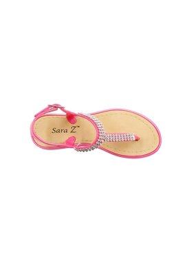 4f9e344d906722 Product Image Sara Z Girls Rhinestone Strap Slingback Thong Sandal Mint  Green Size 13 1. Product Variants Selector. Fuchsia