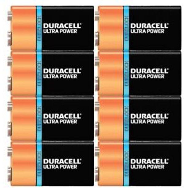 8-Pack Duracell ULTRA Power 9 VOLT Batteries